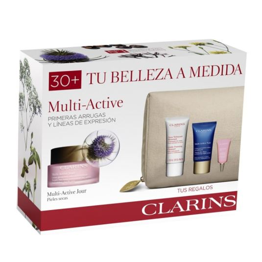 clarins experto multi-active pieles secas 50ml set regalo