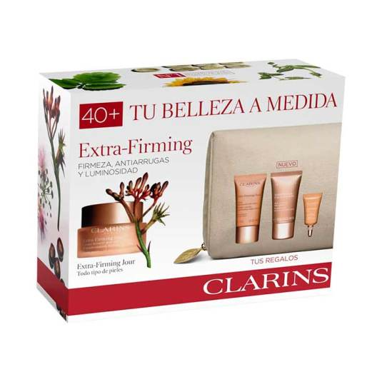 clarins extra-firming todo tipo pieles 50ml set regalo