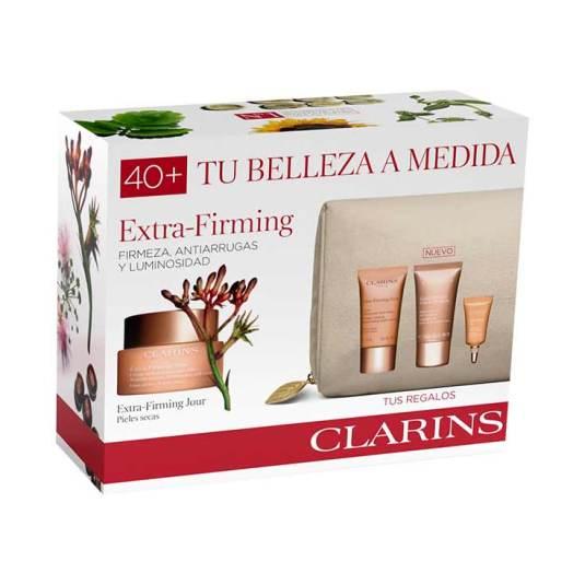 clarins experto extra firming pieles secas 50ml set regalo