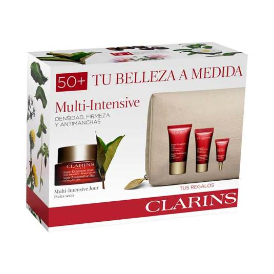 clarins experto multi-intensive jour pieles secas 50ml set regalo