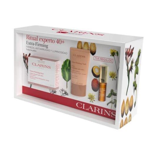 clarins ritual experto 40+ extra firming todo tipo de pieles 50ml set 3 piezas