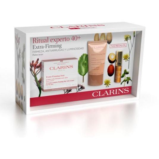 clarins ritual experto 40+ extra firming pieles secas set 3 piezas