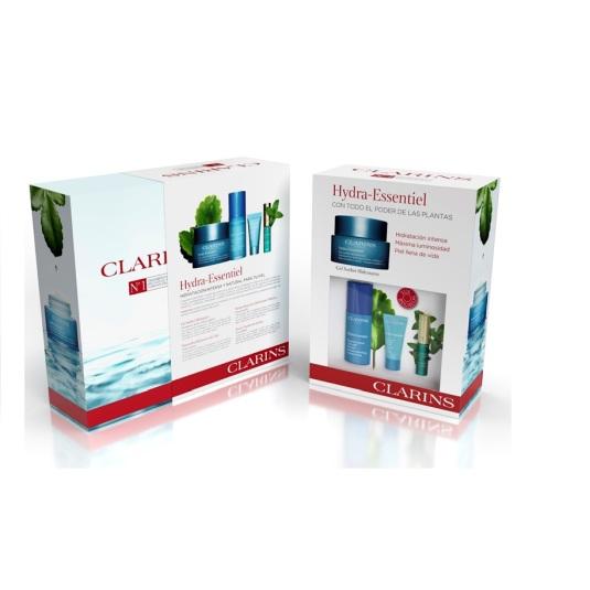 clarins hydra-essentiel gel sorbet 50ml set regalo 4 piezas