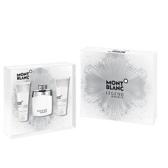 mont blanc legend spirit eau de toilette 100ml cofre 3 piezas