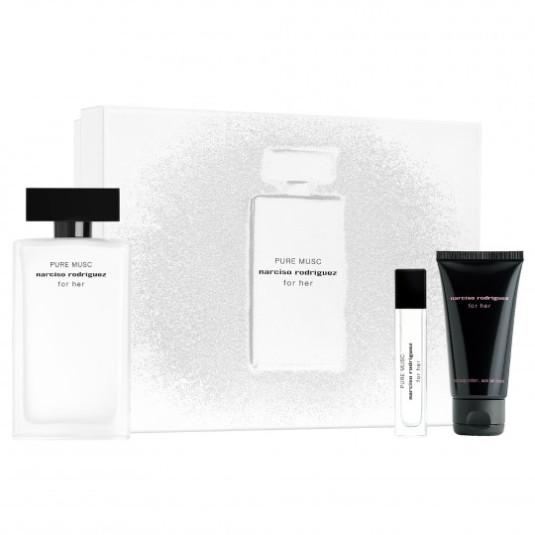 narciso rodriguez pure musc eau de parfum 100ml set 3 piezas