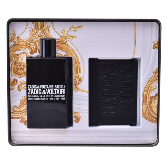 zadig & voltaire this is him! edt 100ml cofre regalo 2 piezas