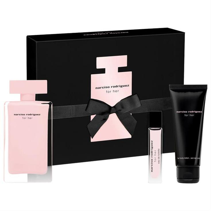 narciso rodriguez for her edp 100ml cofre regalo 3 piezas
