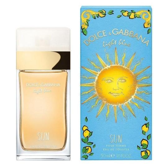 dolce & gabbana light blue sun pour femme eau de toilette 50ml