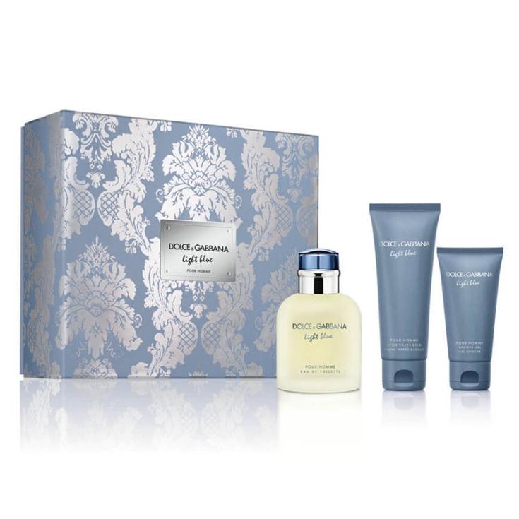 dolce & gabbana light blue pour homme eau de toilette 125ml cofre regalo 3 pieza