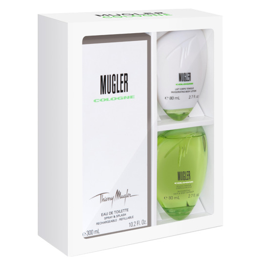 MUGLER COLOGNE SPLASH & SPRAY EAU DE TOILETTE COFRE 3 PIEZAS