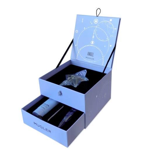 mugler angel eau de parfum 50ml rellenable cofre 3 piezas
