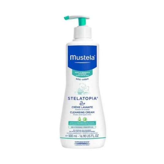 mustela stelatopia gel baño bebe 500ml