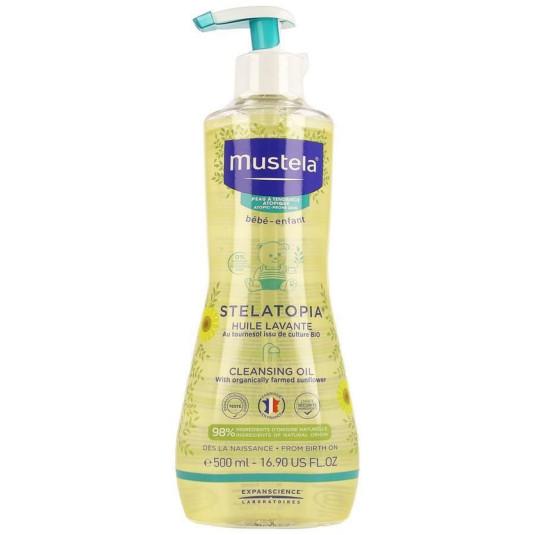 mustela stelatopia aceite de baño limpiador 500ml