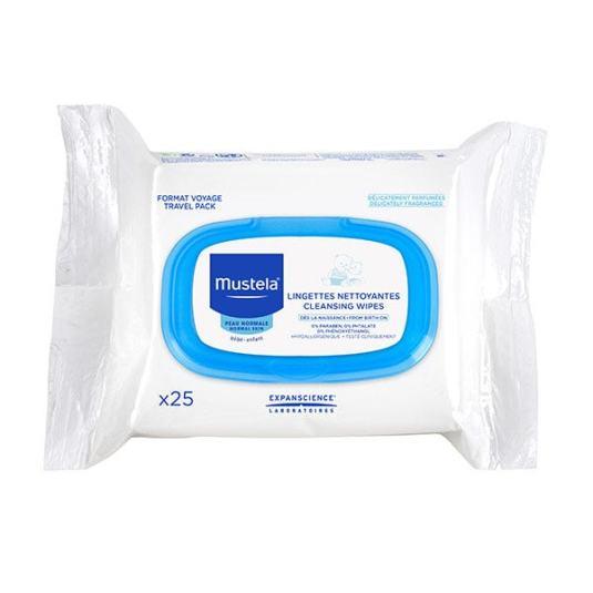 mustela toallitas faciales limpiadoras bebe formato viaje 25 unidades