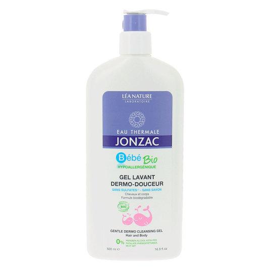 jonzac bebé bio gel dermo limpiador suave cuerpo y cabello 500ml