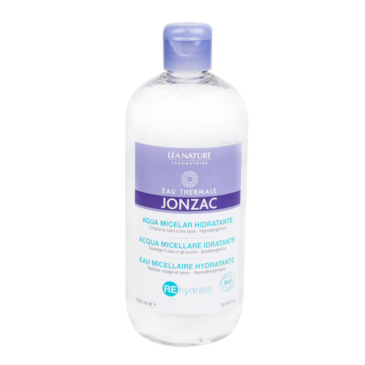 jonzac rehydrate agua micelar hidratante facial y contorno de ojos 500ml