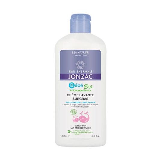 jonzac bebé bio crema limpiador nutritiva cuerpo y cabello 250ml