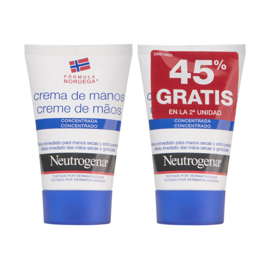 neutrogena crema de manos concentrada duplo 2x50ml