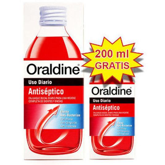 oraldine antiseptico colutorio 400ml+200ml gratis