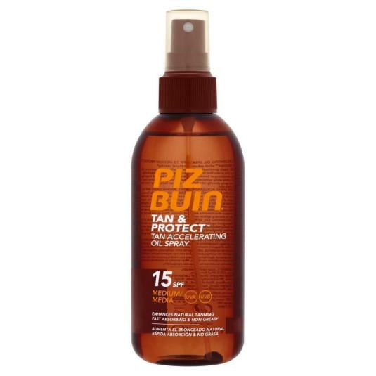 piz buin tan & protect aceite acelerador bronceado spf15 150 ml.