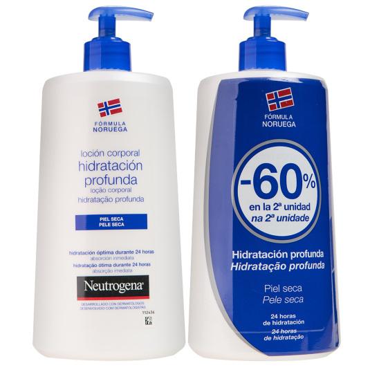 neutrogena loción corporal hidratación profunda piel seca 750 duplo