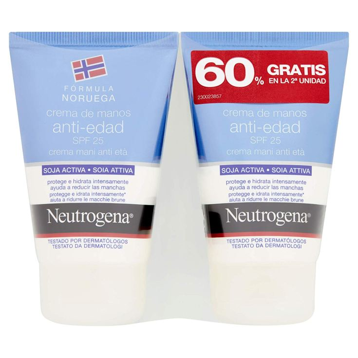 neutrogena crema de manos antiedad spf25 50ml duplo