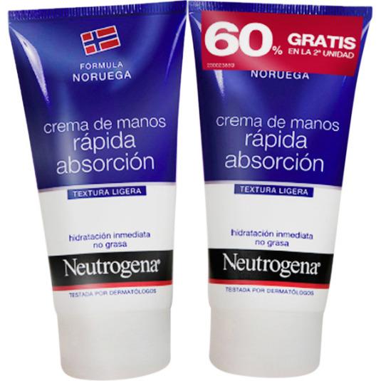 neutrogena crema de manos rápida absorción 75ml duplo