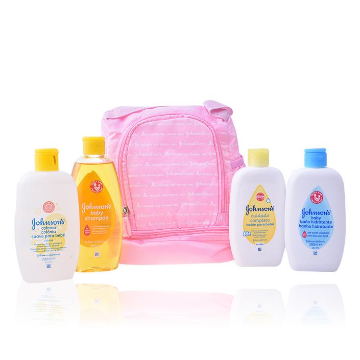 johnson's baby mi primera mochila rosa set 4 productos