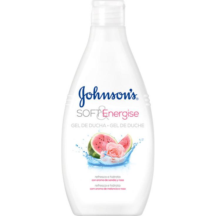johnson's soft & energise gel ducha con aroma de sandia y rosa 750ml