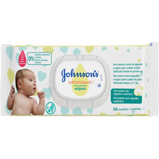 johnson's baby cottontouch toallitas infantiles 56 unidades