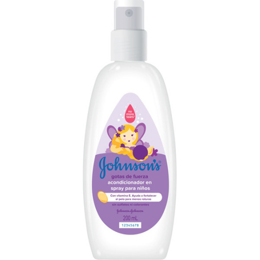 johnson's baby gotas de fuerza acondicionador en spray 200ml