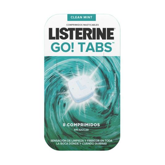 listerine go! tabs enjuague bucal masticable 8 comprimidos