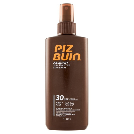 piz buin allergy sun sensitive skin spray spf30 200ml