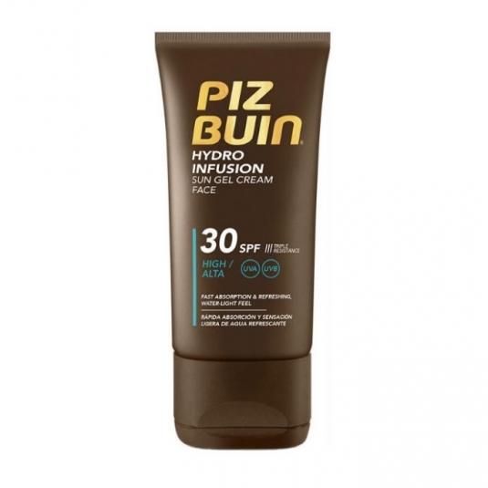 piz buin hydro infusion sun gel crema solar facial spf30 150ml