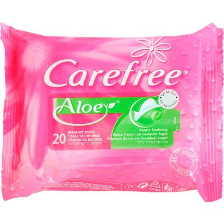 carefree toallitas intimas aloe 20 unidades