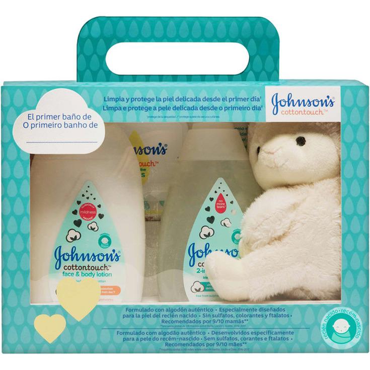 johnson's baby cottontouch set regalo 4 piezas