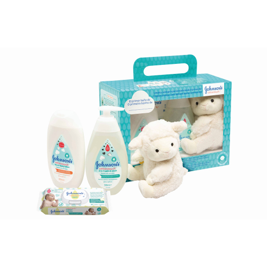 johnson's baby cottontouch set regalo 4 piezas