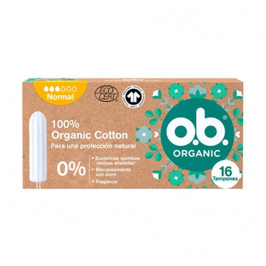 o.b. tampones organicos normal 16 unidades