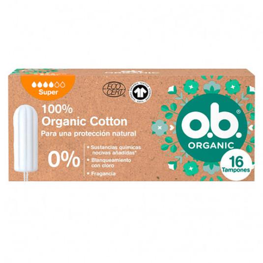 o.b. tampones organicos super 16 unidades