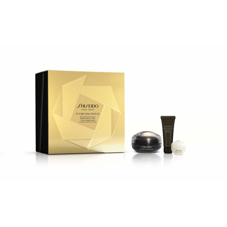 shiseido future solution lx crema contorno de ojos set regalo 3 piezas