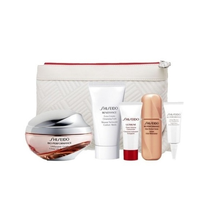 shiseido bio-performance lift dynamic crema dia 50ml set regalo 5 piezas