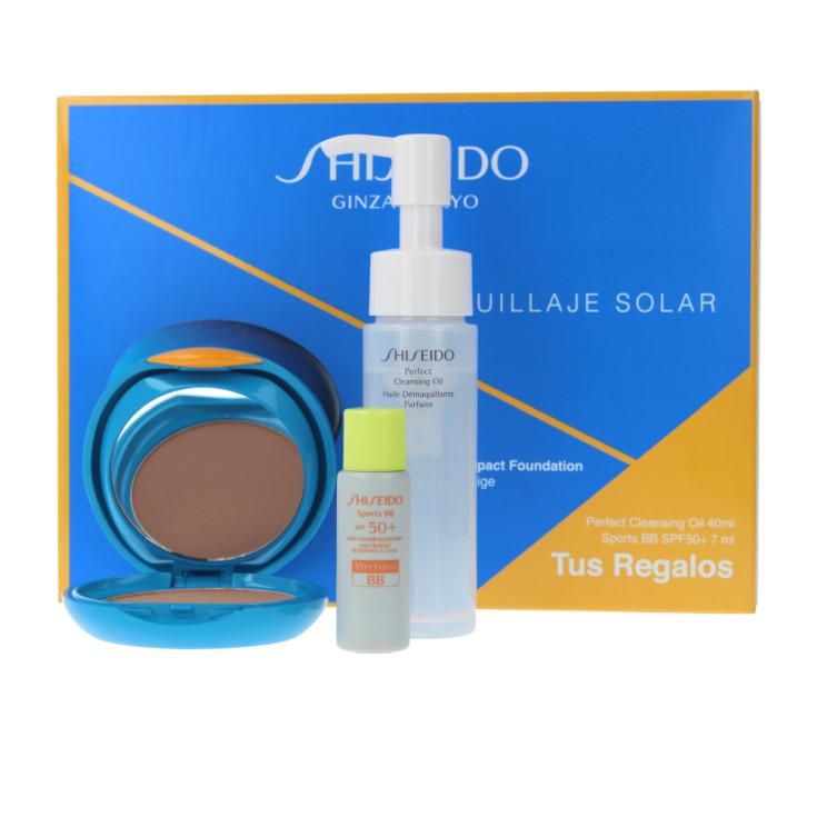 shiseido uv protective compact foundation spf30 set 3 piezas