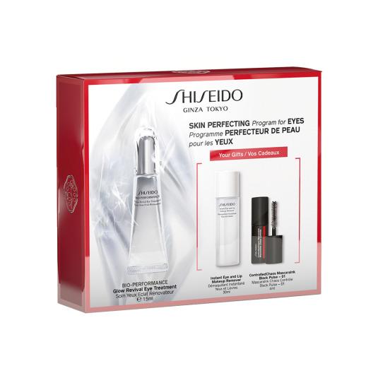 shiseido bio-performance glow revival eye treatment set