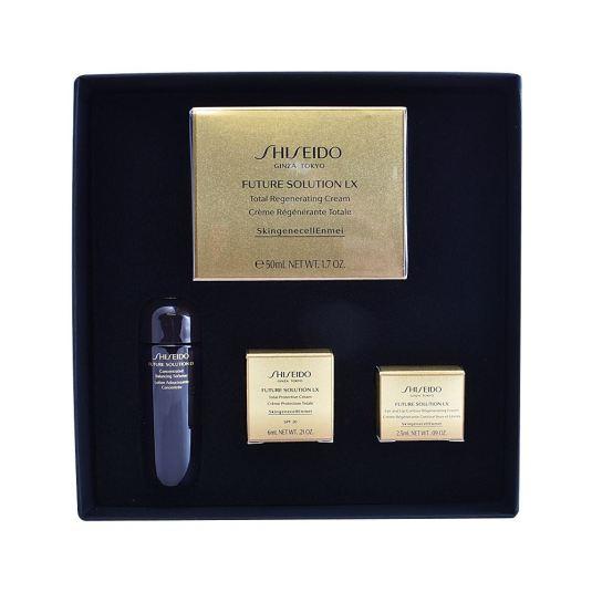 shiseido future solution lx crema noche set 4 piezas