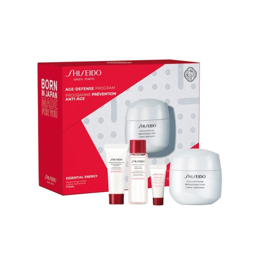 shiseido essential energy moisturizing cream value set 4 piezas