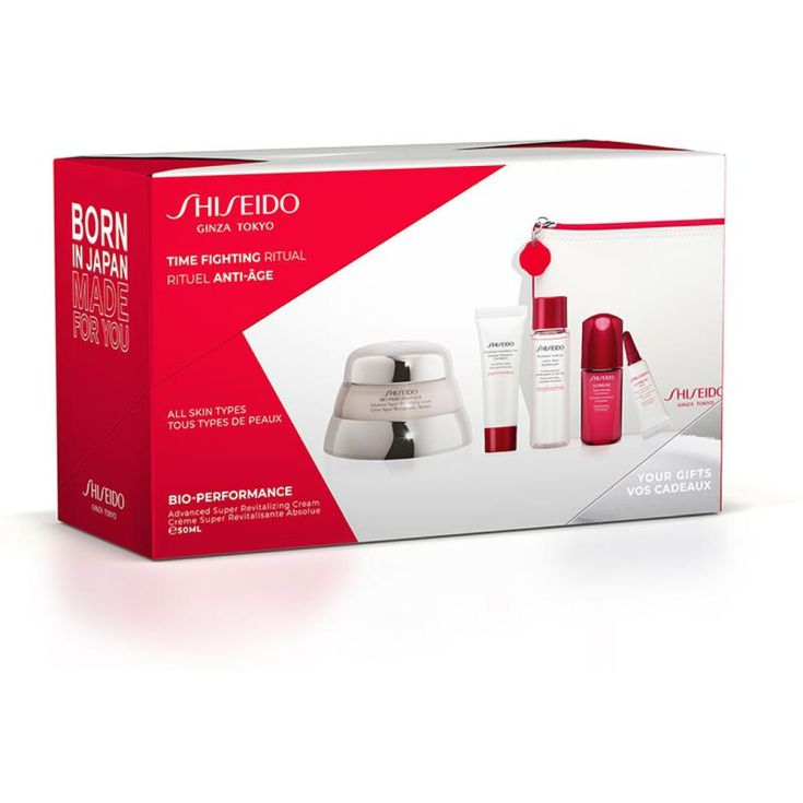 shiseido bio-performance advanced super revitalizing crema antiedad set 5 piezas