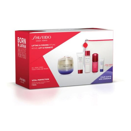 shiseido vital perfection lifting & firming ritual set 5 piezas