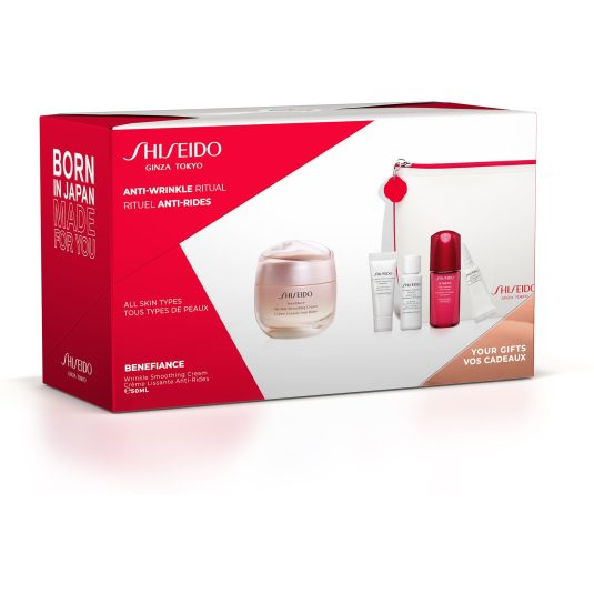 shiseido benefiance wrinkle smoothing cream 50ml set 5 piezas