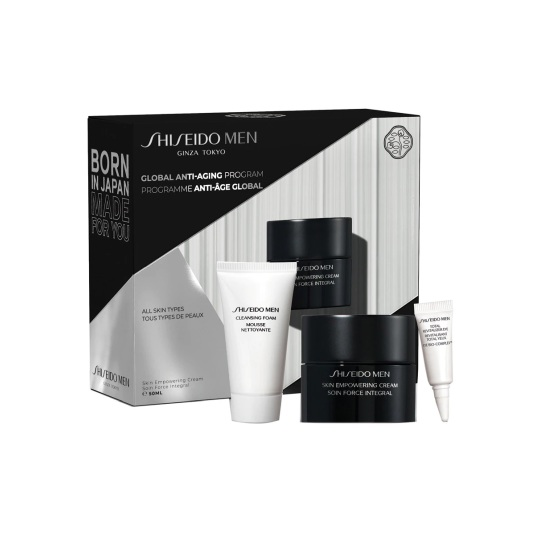 shiseido men skin empowering value set tratamiento facial antiedad 3 piezas