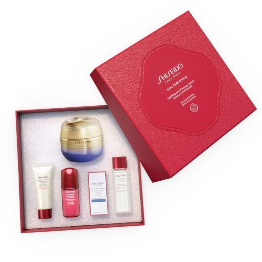 shiseido vital perfection uplifting and firming cream set 5 piezas